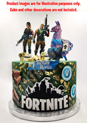 Fortnite characters set decoration ICING WAFER edible cake topper A4 size