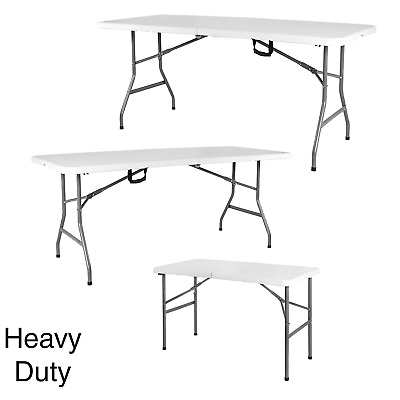 4 5 6 Heavy Duty Folding Table Trestle Camping Party Picnic BBQ Stall Garden DIY
