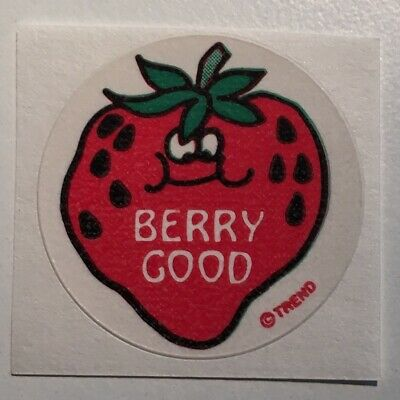 Vintage 1984 Mark 1 SCRATCH /& SNIFF IRON-ABLES BERRY HAPPY STRAWBERRY