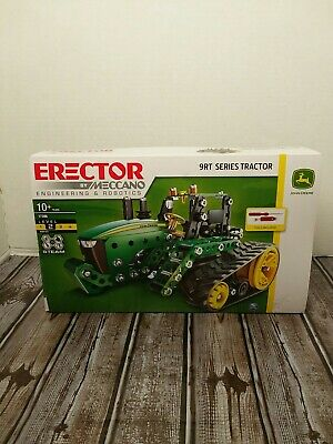 FREE SHIPPING 9RT Series Tractor John Deere Erector Set by Meccano Ages 10