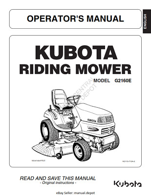 HUSQVARNA RIDE ON MOVER LR12 OWNERS MANUAL REPRINTED