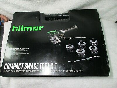 """Hilmor 1839015 - CS Compact Swage Tool Kit with Deburrer & 5 heads (3/8"""" to 7/8"""