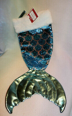 Details about  /SEQUINED RAINBOW MERMAID TAIL LARGE STOCKING FLIPPY REVERSABLE NEW FREE SHIPPING