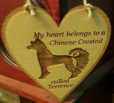 Heart belongs to a chinese crested-personalised