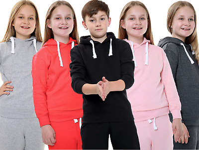Unisex Boys Girls Plain Fleece Sweat Track Pants Lower Jogger Bottom Trousers