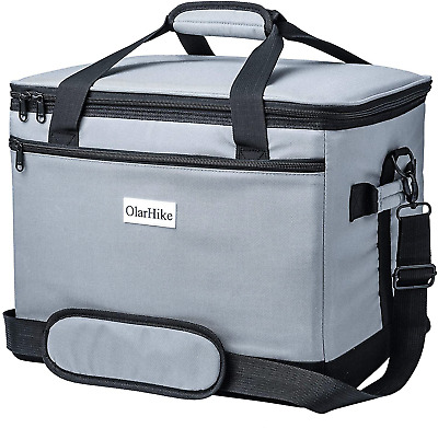 LUNCIA Collapsible Large Cooler Bag Insulated Leakproof 60-Can Soft Sided Por...