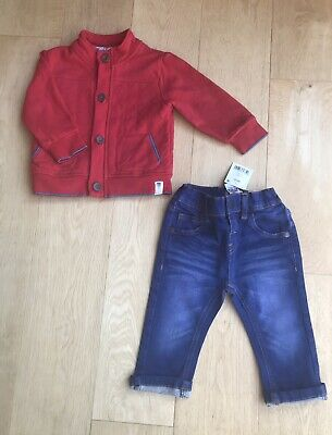 Ted Baker Next Baby Boys Designer Jacket Top & New Jeans Age 9-12 Months