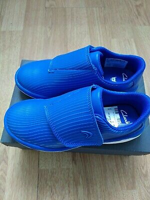 Brand New Boys Clarks Blue Suede Trainers 11.5F Tri Quest Jnr