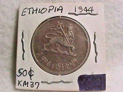 K6 Ethiopia; 25 Coins from Mint Bag Cent EE1936-1943-44 Haile Selassie KM#32  BU