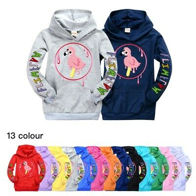 Flamingo Flim Flam Kids Hooded Hoodie Sweashirt Youtuber Pullover Jumper Top
