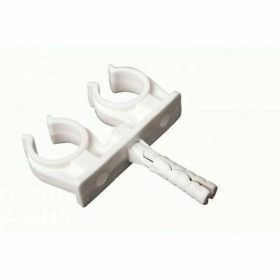 100 x 15mm Double Snap-in Open Clip / Tube Clamp / Pipe Bracket / Holder