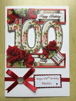 Luxury Hand-Made 70th Birthday Card-Can Be Personalised-Any Relative//Friend
