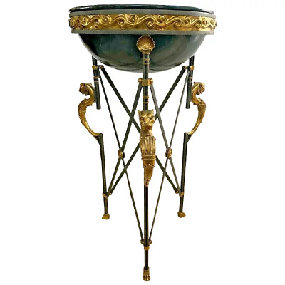Maitland Smith Torchere Plant Stand Neoclassical Egyptian Revival