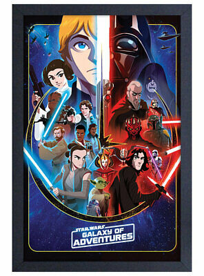 22x34-17424 CHARACTER GRID POSTER STAR WARS GALAXY OF ADVENTURES