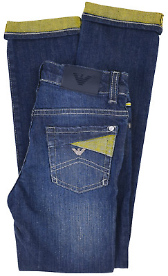 NEW Emporio Armani Junior RRP £169 Designer AGE14 YRS Kids Boys Jeans Pants A908