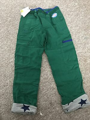 Mini Boden Boys Warrior Knees Cosy Lined Cargo Trousers Age 8 Years