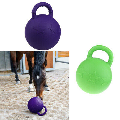 25cm Horse Pony Jolly Play Ball Equine Toy Game Chew Balls with Apple Scented