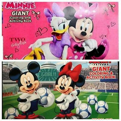 Minnie & Mickey Mouse Giant Coloring and Activity Book with Stickers Lot of 2