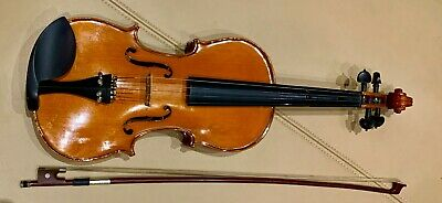 Solid Maple Spruce Wood Violin 4/4 Full Size w Case Bow Rosin String