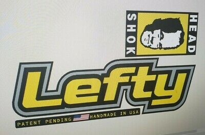 """Sticker Decal Set for Old Style Cannondale Lefty DLR and others-/""""Kale/"""" /& Chrome"""
