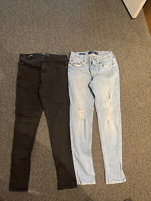 Boys Teenager Hollister Jeans 28 X 30 Super Skinny - 2 Pairs used