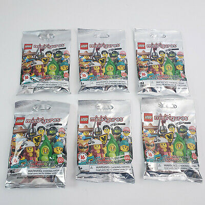 Lot of 6 LEGO Minifigures Series 20 Blind Bags Random 71027-6 New Sealed