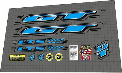 GT Performer Hazzard Free Style decal Kit DG stickers