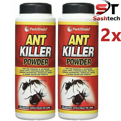 2 Pcs Ant Killer Powder Indoor Outdoor Cockroaches Beetles Insects Bugs Garden