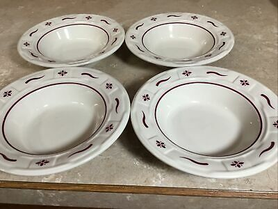 "Longaberger /""Woven Traditions Red/"" 7 1//4 Inch Bread Butter Plate"