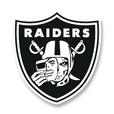 5 sizes and 3 colors to choose from Perfect for Las Vegas and Oakland fans Raiders Window Sticker Vinyl Decal 5 Inch
