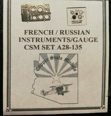Copper State Models 1//32 FRENCH /& RUSSIAN GAUGE /& INSTRUMENT SET Photo Etch Set