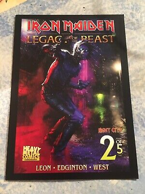 NEW ZURICH FRENCH POSTCARD CARTE POSTALE IRON MAIDEN TOUR 2020