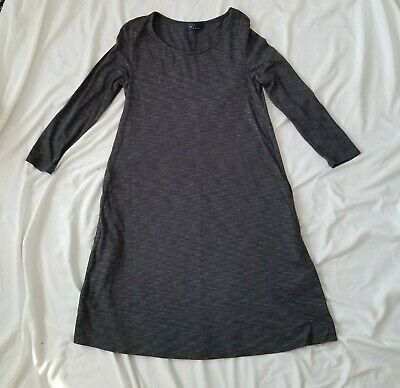 Gap Charcoal Grey Space Dyed A-Line Jersey Dress with Pockets
