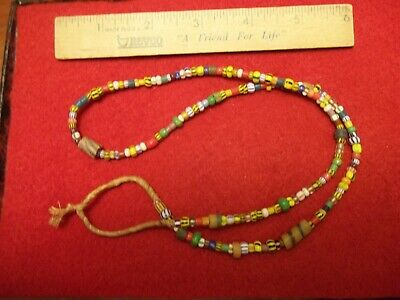 Native American Indian Trade Beads Necklace 13 Long Hopewell Bead 20 00 Picclick