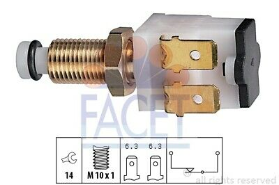 FACET Bremslichtschalter Made in Italy OE Equivalent 7.1052 M10x1,25 2-polig