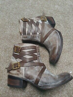 US 7 $300 Freebird By Steven Womens FB-Bae Tall Heeled Boot Shoes Natural