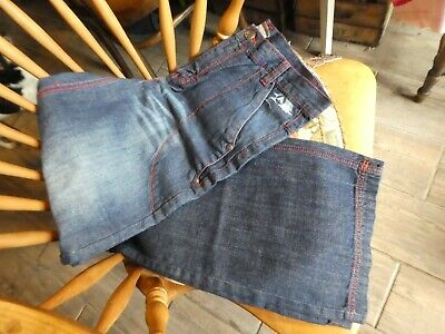 AIRWALK Boys Blue Denim Skater Jeans, red stitch, BNWT, NEW,  age 13 yrs