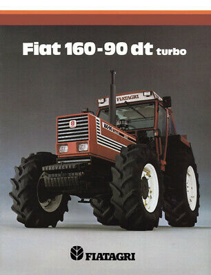 Fiat Fiatagri 110-90 160-90 180-90 New Holland Tractor Brochure Poster A3
