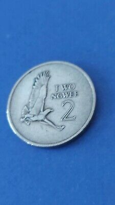 Zambia 2 Ngwee 1968. KM#10. Two Cents coin. Martial Eagle. Bird.