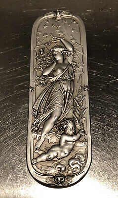 """Facsimiles Ltd """"Persephone"""" Hand Finished Silver Plaque Cast In Gypsum Cement"""