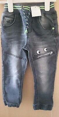 BNWT 3-4 years monster zip mouth jeans from next