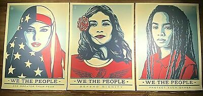 """SHEPARD FAIREY Obey Giant Sticker 4.75/"""" POWER DEMOCRACY SOLD fr poster print 226"""