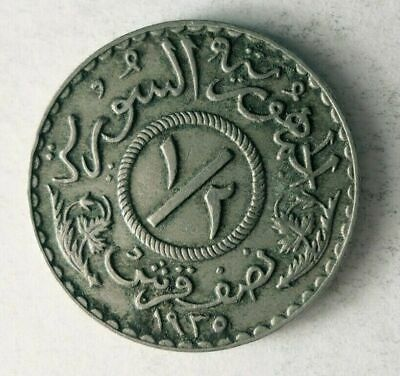 1935 Syria 1/2 Piastre Syrie 600k minted