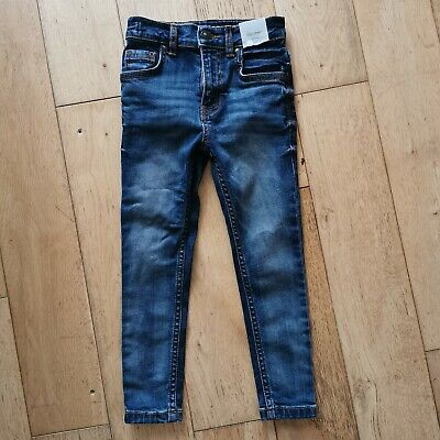 TU Boys Denim Blue Super Skinny Jeans With Pockets Age 5 Years NEW tags