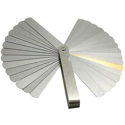 Stainless Steel 0.04-0.88mm Gap Measuring Tool Metric Imperial Feeler Gauge