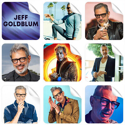 3 Stickers FREE GIFT NEW Perfect for Laptop Tablet Jeff Goldblum 9 Stickers