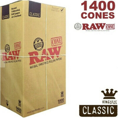 Classic RAW Natural Cones Pre-Rolled King Size BULK Box1400