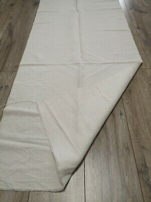 Antique  homespun Thin Linen Fabric 2,2x0,6m 1900s White Great condition