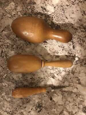 Wooden Sock Darners And Latch Hook