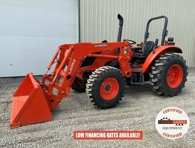 2020 Kubota M6060D Tractor W/ Loader, 2 Post Rops, 4X4, 3 Pt, 540 Pto, 16 Hrs